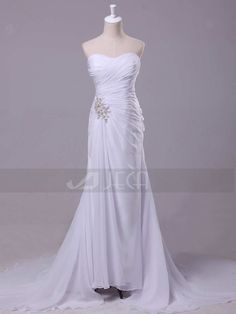 Chiffon Casual Wedding Dress by Jecadress on Etsy, $209.95 - nice for a summer wedding