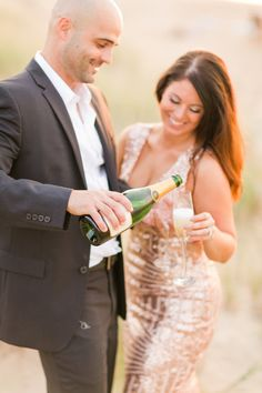 Engagement Photos Formal Engagement Outfit Sequin Dress Pop Champagne Photo By Kirstyn Marie Photography VA