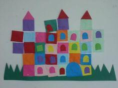 château (collage de formes)