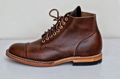 Viberg 1950 Service Boot Icy Mocha CXL Brogue Toe Cap 8 Eyelets (Brass) Brown Thread Natural  Midsole/Edge   2030 Last  Box Toe