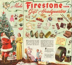 1959 vintage Christmas ad, Gifts from Firestone Gift Headquarters -121212