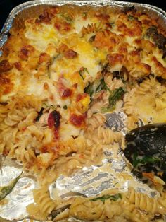 Baked Cheesy Chicken Rotini - great meal for a large group of people.