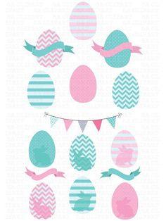 Easter Egg ClipArt. Banner #printable #clipart