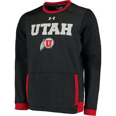 Men's Under Armour Black Utah Utes Momentum Storm Performance Sweatshirt