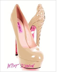 THEE perfect nude heel omg.  Betsey Johnson doesn't mess around.