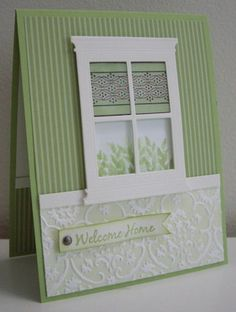 Try this! Stained Glass Window - WT380 by Loll Thompson - Cards and Paper Crafts at Splitcoaststampers