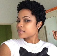 SHORT HAIRSTYLES FOR BLACK WOMEN Naturally black women have short hair which sometimes is kind of difficult to style duo to its thickness and curly nature. Description from pinterest.com. I searched for this on bing.com/images