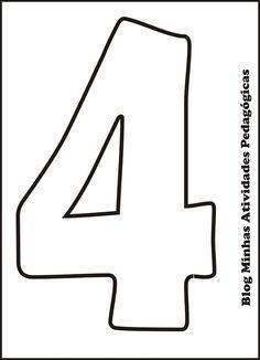 moldes de numeros grandes para imprimir 1 numbers printables
