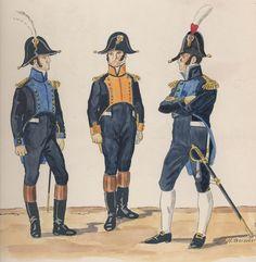 l'Armée de jachim Murat, Roi de Naples légions provinciales -Bataillons sédentaires-officiers 1814-1815 Capitaine: légion des abbruzzes citérieures Capitaine et chef de légion abbruzes ultérieures
