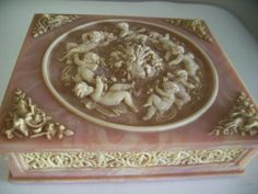 Vintage Incolay Jewelry Box