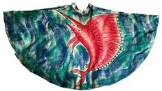 Vintage 1950s handpainted Mexican full circle skirt