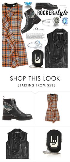 """Rocker Chic"" by totwoo ❤ liked on Polyvore featuring Fendi, MSGM, McQ by Alexander McQueen and Les Petits Joueurs"