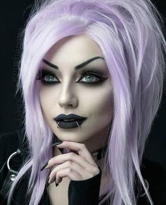 Gothic and Amazing Gothic Girls, Hot Goth Girls, Goth Beauty, Dark Beauty, Darya Goncharova, Color Del Pelo, Goth Hair, Blonde Goth, Gothic Hairstyles