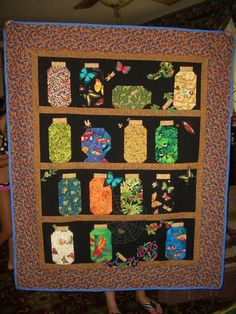 """Colleen's """"Quilting Journey to Oz"""": Another Bug Jar quilt - for Alex"""
