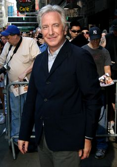 "2008 - April 4 - Alan Rickman, right after an appearance on ""Good Morning America"" during which he talked about ""Bottle Shock."""