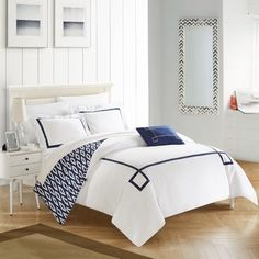 Shop for Chic Home 4-Piece Xanti Navy Duvet Cover Set and more for everyday discount prices at Overstock.com - Your Online Kids'