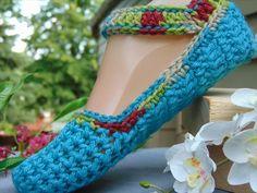 Crochet Flat Slippers Pattern for Women | 101 Crochet