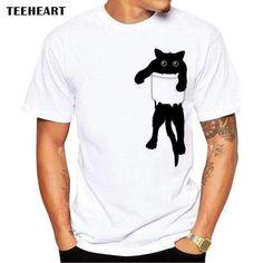 Funny Cat in Pocket - T Shirt