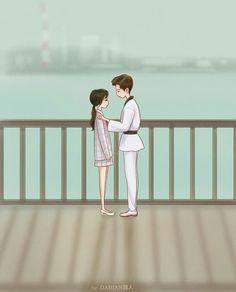Fight for my way fanart dabian 超人 Cute Couple Comics, Cute Couple Cartoon, Chibi Couple, Cute Couple Art, Kpop Drawings, Cute Drawings, Fighting Couples, We Bare Bears Wallpapers, Kdrama