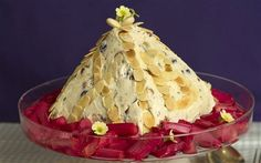 Pashka, a traditional pyramid-shaped Easter dessert in Russia