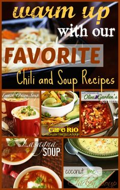 Chili and Soup Recipes from favfamilyrecipes.com