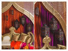 Moroccan Inspired Sangeet Decor | Wedding Photographer