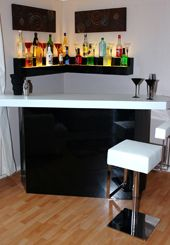 Corner Bar with Lighted Shelves but not this color | Liquor ...