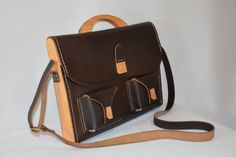 Elegant unisex bag made from leather and by HLDesignStudioShop