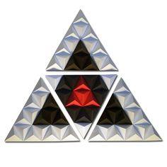 """TRIangle Module #1 """"Core"""" by Jonathan Vizcuña, via Behance #Contemporary #Art #Decor #Black #White #Red #Triangle #Core #JonathanVizcuna"""
