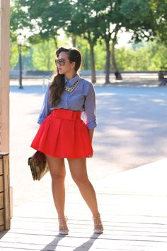 Double Bow Skater Skirt in Red.... Must Have