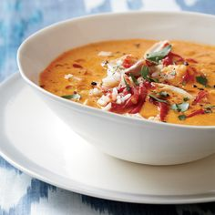 Spanish Piquillo peppers add a smoky Spanish flare to this robust Creamy Piquillo Pepper and Chicken Chickpea Soup.