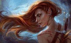 "mystery-of-silence: "" Demon Hunter by Inna-Vjuzhanina "" Character Portraits, Character Art, Character Design, Character Creation, Character Ideas, Fantasy Women, Fantasy Art, Vampires, Female Elf"