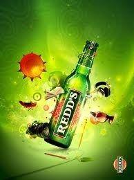 Cerveja Redd's, estilo Fruit Beer, produzida por Cervecería Bavaria S.A., Colômbia. 4.5% ABV de álcool.