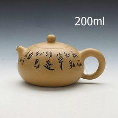 Handmade 200ml Yixing Zisha Unglazed Clay Teapot China Pottery Tea Pot