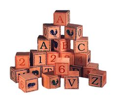 Old Fashion ABC Cubes...