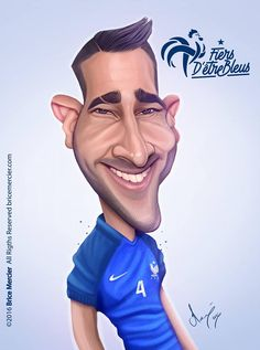 Caricature d'Adil Rami par Brice Mercier