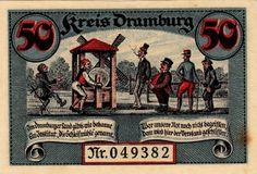 Dramburg, 50 pf, 1918