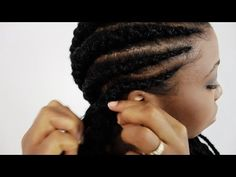 Ghana Braids Step By Step Tutorial Part 2: How To Do Cherokee Banana Pineapple Invisible Cornrows - YouTube