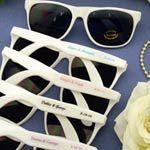 Personalized+Sunglasses+-+White