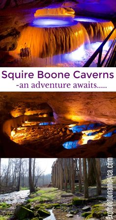 Squire Boone Caverns is a one of a kind experience for all ages. Nestled in the woods of Indiana it's also the final resting place for Squire Boone, Daniel Boone's brother. FULL of history you'll also encounter a working pioneer village, waterfalls, grist mill and more!   #indiana #travel #visitindiana #caves #caveexploring #midwest #roadtrip #familytravel #history #unique #water #waterfall