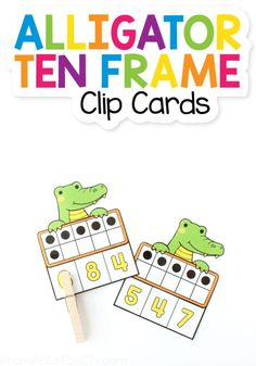 Grab these count and clip cards to work on counting, ten frames, and fine motor skills with your animal obsessed little learner! All you need are some clothespins! #FromABCsToACTs Pre K Activities, Shape Activities, Teaching Numbers, Order Of Operations, Math Word Problems, Math Notebooks, Common Core Math, First Grade Math, Learning Through Play