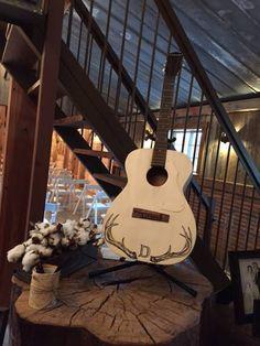 Super fun wedding this weekend!  #antlers #guitar #rustic