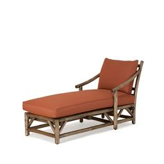 Chaise #1181 shown in Kahlua Premium Finish (on Peeled Bark) La Lune Collection