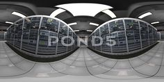 4K VR360 Server Room Blackout then Electricity Comes Back Looping 3D Animatio - Stock Footage   by boscorelli