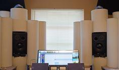 setting up tube traps studio - Google Search Studio Setup, Studio Ideas, Studio Build, Build Your Own, Music Stuff, Acoustic, Blinds, Tube, Studio Spaces