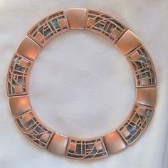 Melanie's dress - Monet Modernist Stained Glass Collar Necklace