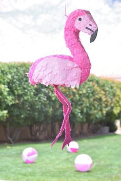 Flamingo Piñata from a Pink Flamingo Pool Party via Kara's Party Ideas | KarasPartyIdeas.com (22)