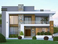 Best Modern House Design, Modern Exterior House Designs, Dream House Exterior, Modern Architecture House, Exterior Design, Modern House Facades, Architecture Design, Modern Design, 2 Storey House Design