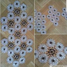 This Pin was discovered by Fat Beaded Embroidery, Doilies, Diy And Crafts, Cross Stitch, Rugs, Crochet, Floral, Projects, Pattern