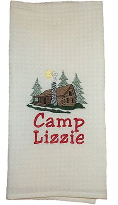 Cabin towel- haha! For Liz's mini cabin? Lol